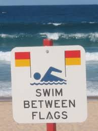 swim between flags